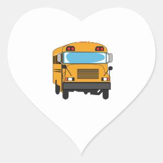 SCHOOL BUS HEART STICKER