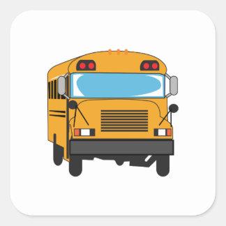 SCHOOL BUS SQUARE STICKERS