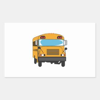 SCHOOL BUS RECTANGLE STICKERS