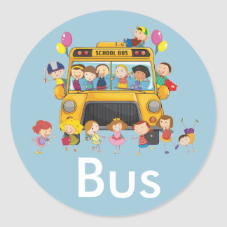 School Bus Sticker Pack