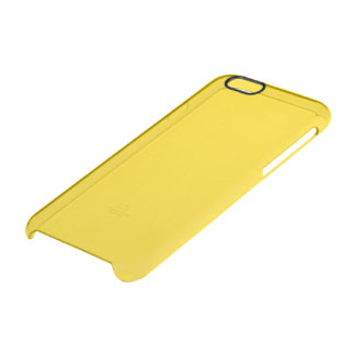 School Bus Yellow Solid Colour Clear iPhone 6/6S Case