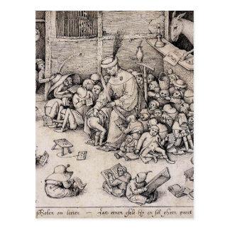 School by Pieter Bruegel the Elder Postcard