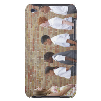School children lining up in the playground for iPod Case-Mate case