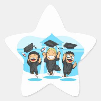 School-College Graduation Cartoon Star Sticker