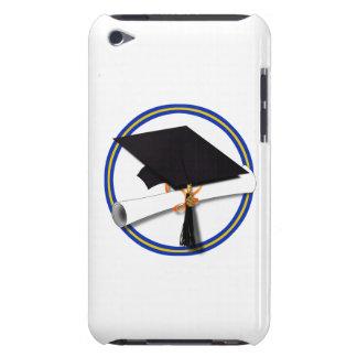 School Colors Blue & Gold Grad Cap w/Diploma iPod Case-Mate Case