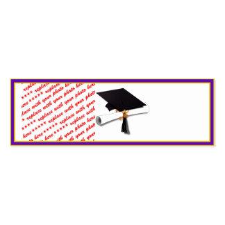 School Colors Purple Gold Graduation Frame Business Cards