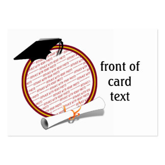 School Colors Red Gold Graduation Photo Frame Business Card