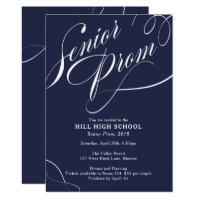 Prom night cards invitations zazzle prom night cards invitations school colours fancy script prom invitation stopboris Choice Image