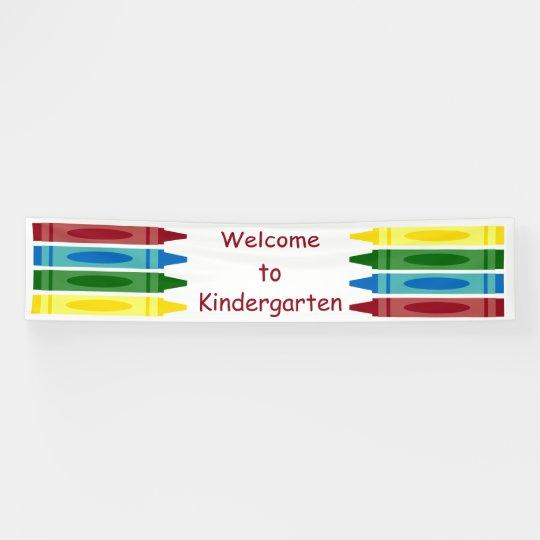 School Crayons Personalised Banner