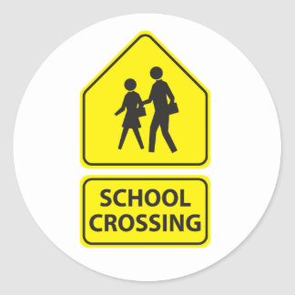 School Crossing Sign Stickers