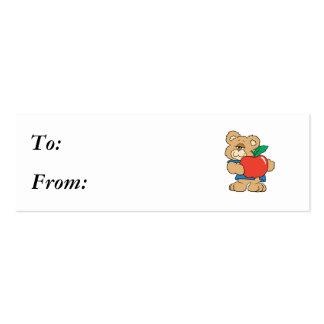 School Days Apple Teddy Bear Business Cards