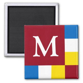 School Days Blocks Monogram Square Magnet