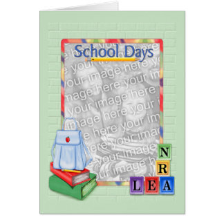 School Days Blocks - Photo Card