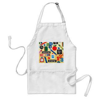 School Days Fabric Print Standard Apron