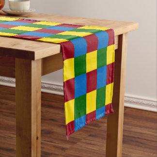 School Days Square Tile Block Short Table Runner