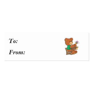 School Days Study Bear Business Card Template