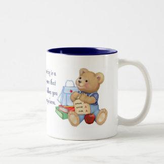 School Days Teddy Two-Tone Coffee Mug