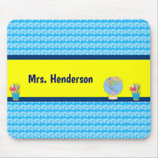 School Days with Teacher Student Name Mouse Pad