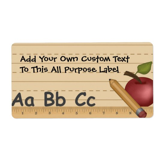 School Dayz All Purpose Label