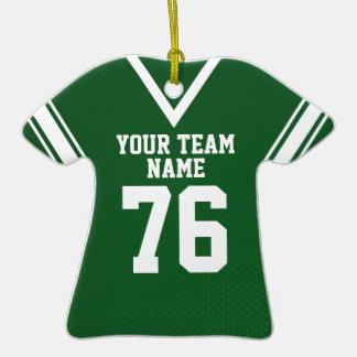 School Football Jersey Green Ceramic T-Shirt Decoration