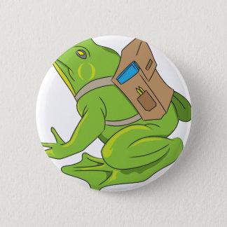 School Frog 6 Cm Round Badge