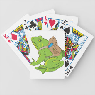 School Frog Bicycle Playing Cards