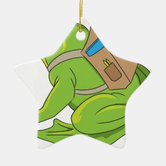 School Frog Ceramic Ornament