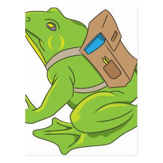 School Frog Postcard