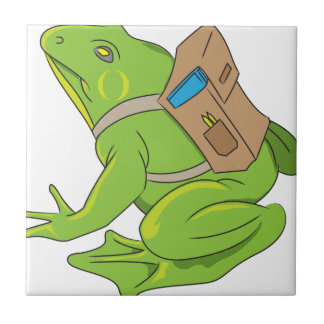School Frog Small Square Tile