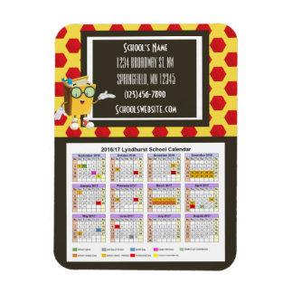 School Fundraising Calendar Fun Dots Rectangular Photo Magnet