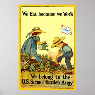 School Garden Army - Print