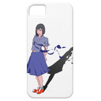 school girl shadowed iPhone 5 case