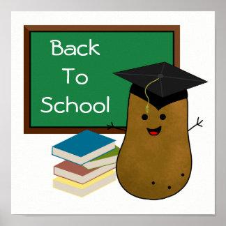 School Graduate Potato Back To School Poster