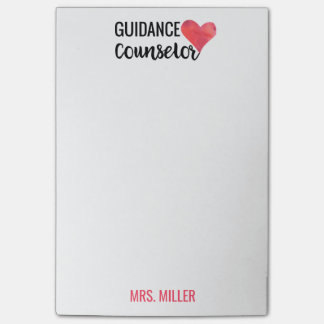 School Guidance Counselor Personalized Watercolor Post-it Notes