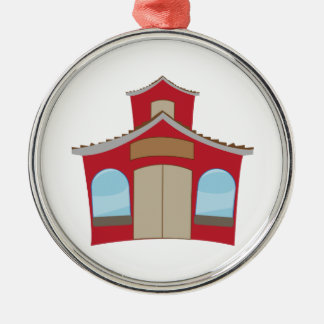 School House Metal Ornament