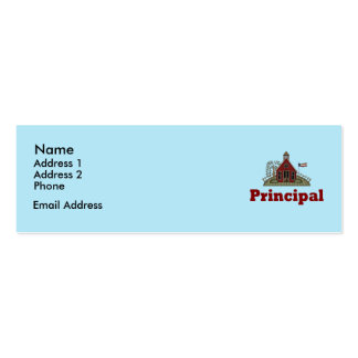 School House Principal Personal Cards Business Card Template