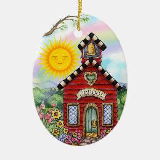 School House - SRF Ceramic Ornament