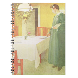 School Household, Dining Room Scene, pub. in 'Lass Note Books