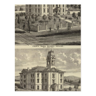 School houses, San Jose, California Postcard