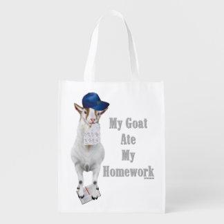 School Humor My Goat Ate My Homework Market Tote