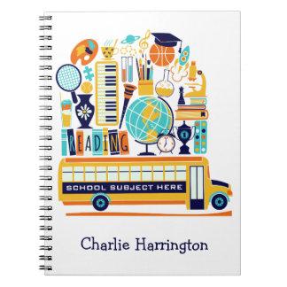 School Illustrations custom name notebook