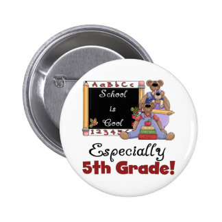 School is Cool Especially 5th Grade Buttons