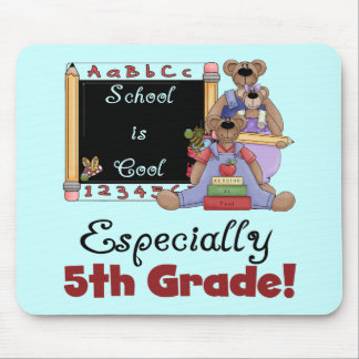 School is Cool Especially 5th Grade Mouse Pad