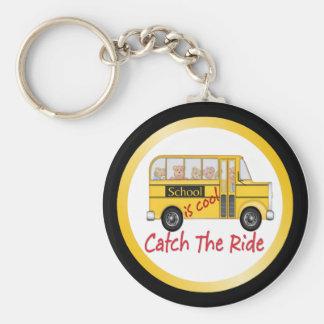 School is Cool School bus Key Ring