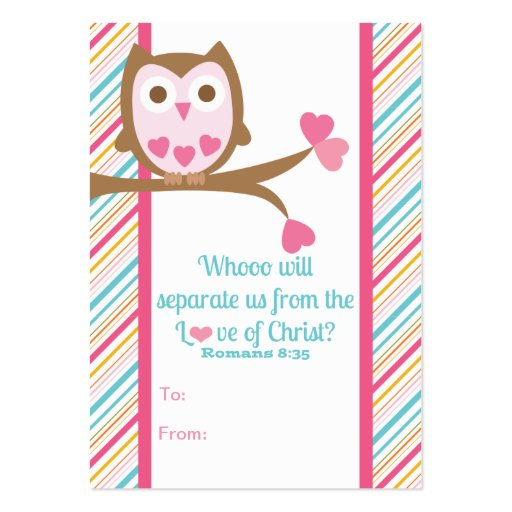 School Kids Scripture Valentine's Day Classroom Ca Business Card Template