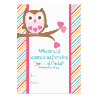 School Kids Scripture Valentine's Day Classroom Ca Pack Of Chubby Business Cards