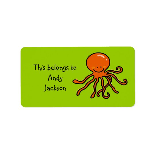 School Labels ( cute octopus )