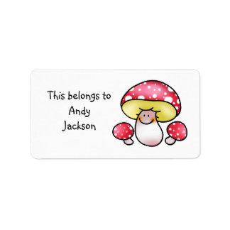 School Labels ( mushrooms )