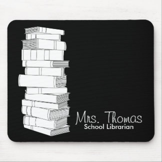 School Librarian Mousepad (Black & White)