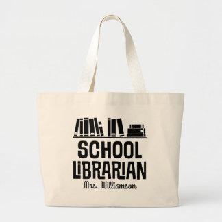 School Librarian Personalised Book Tote Bag